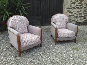 paire de fauteuils années 80 vue d'ensemble