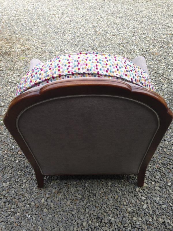 Paire de fauteuils des années 80 dos